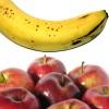 Cuadraditos de manzana y banana
