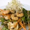 Ensalada de espinaca con camarones