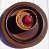 Soufflé de chocolate con salsa de vino tinto