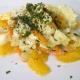 Ensalada de lechuga, zanahoria y naranja al jengibre