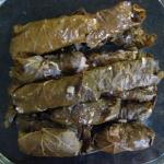 Dolmades (arrollados de hojas de parra)
