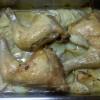 Muslos de pollo asados con papas