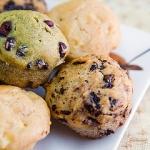 Muffins de nueces y pasas de uva