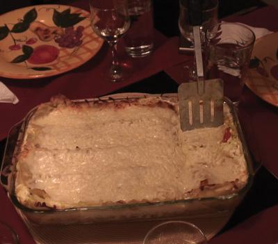 Lasagna de camarones