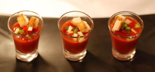 gazpacho andaluz en shots